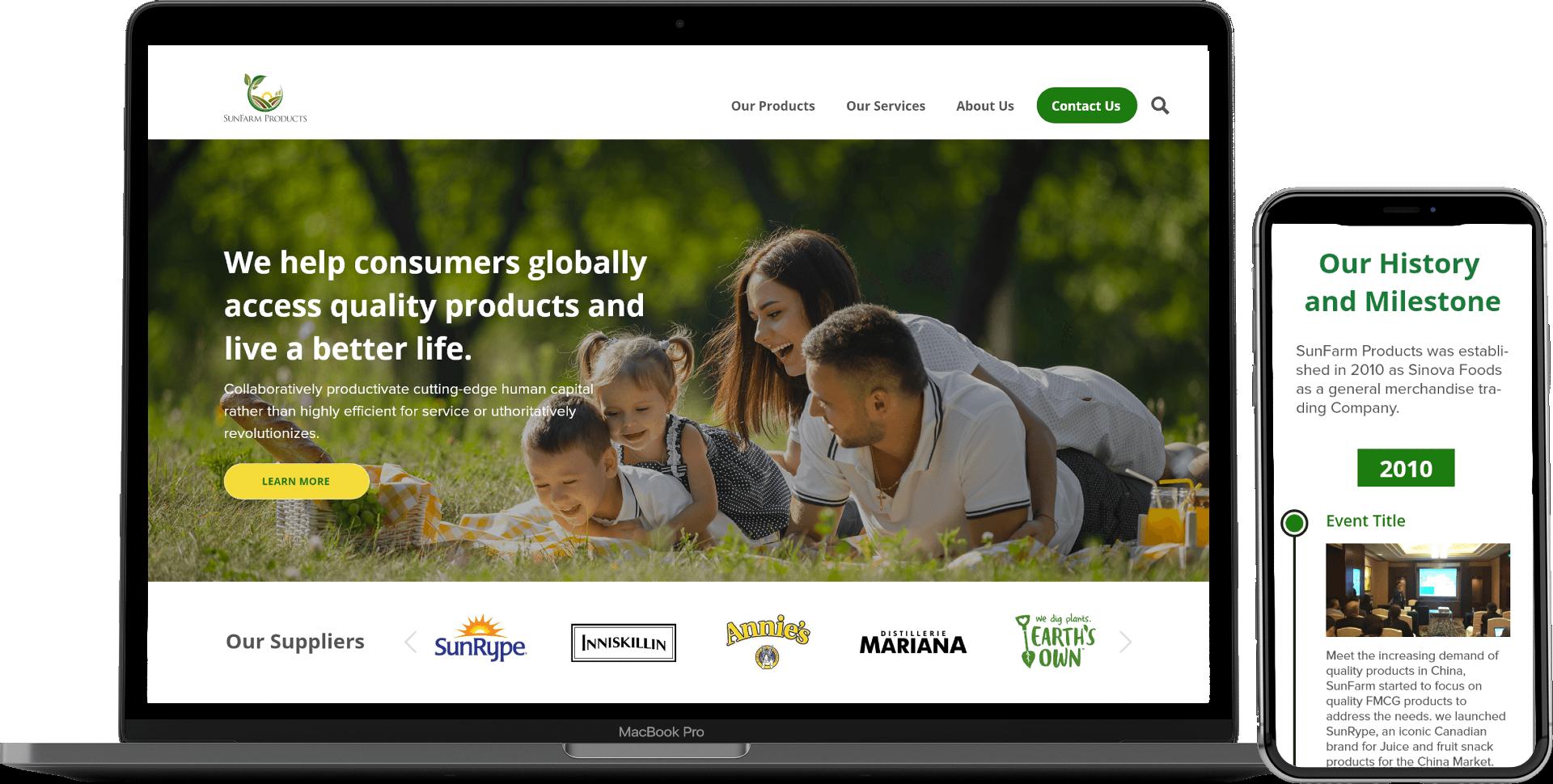Sunfarm Products-White